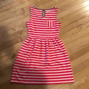 Pink and cream striped dress. XS